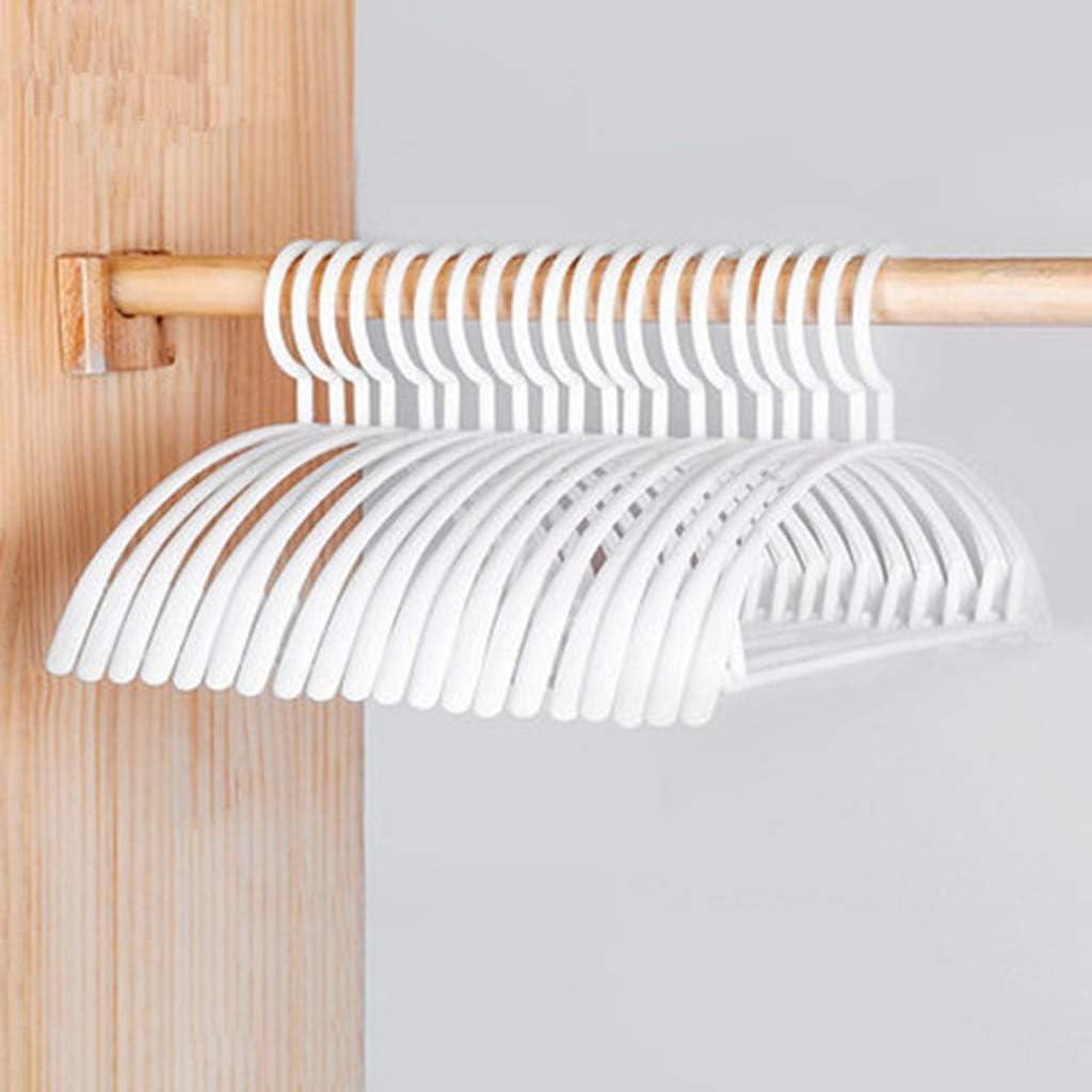 Rapid rise WSZJJ 10pcs Bargain sale Clothes Hanger Plastic Non-Slip Wid Household