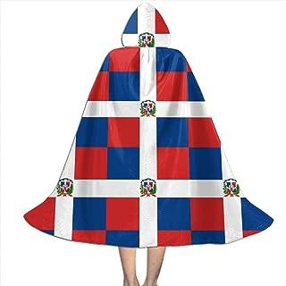 WANSJPIF Dominican Republic Flag Kids Hooded Cloak Cape for Halloween Christmas Cosplay Costumes Tunic,Halloween Dress Up,Personality Halloween Witch's Cloak Black Girls Boys