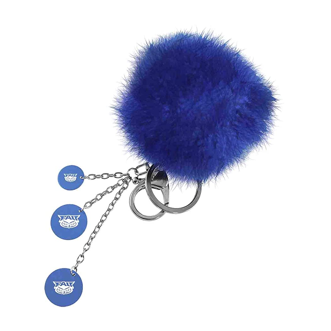 Florida Atlantic University, Color Puff Key Chain, Blue