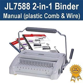Plastic Comb & Wire 2-in-1 Binder/Binding Machine