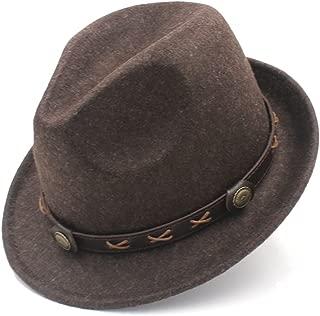 SGJFZD Dad Trilby Homburg Church Hat Derby Cloche Chapeau Boater Caps 100% Wool Women Men Winter Fedora Hat for Elegant Lady (Color : Coffee, Size : 57-58cm)