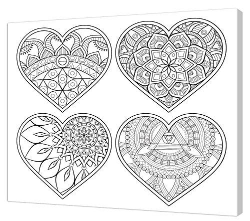 Pintcolor 7824.0 châssis avec Toile imprimée à colorier, Bois de Sapin, Blanc/Noir, 40 x 50 x 3,5 cm