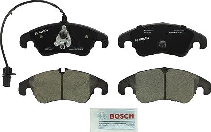 Bosch BC1322 QuietCast Premium Ceramic Disc Brake Pad Set For Select Audi A4, A4 Quattro, A5, A5 Quattro, A6, A6 Quattro, A7 Quattro, Allroad, Q5, S4, S5; Mercedes-Benz E300; Front
