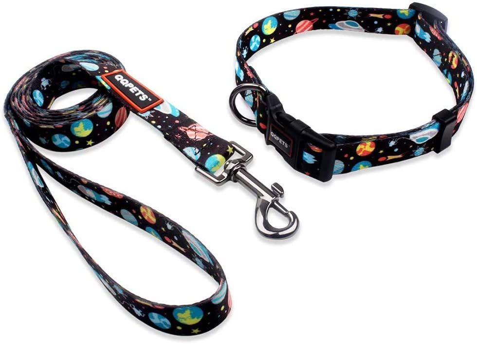 QQPETS Dog Collar Leash Basic Set Max 55% OFF Limited price sale Adjustable Personalized