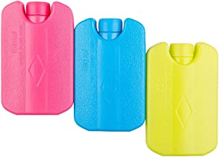 Blue Ele Mini Ice Pack for Lunch Box Cooler, Resuable Freezer Packs, Long Lasting Cool Packs Breast Milk Storage, Set of 3, Muticolored.