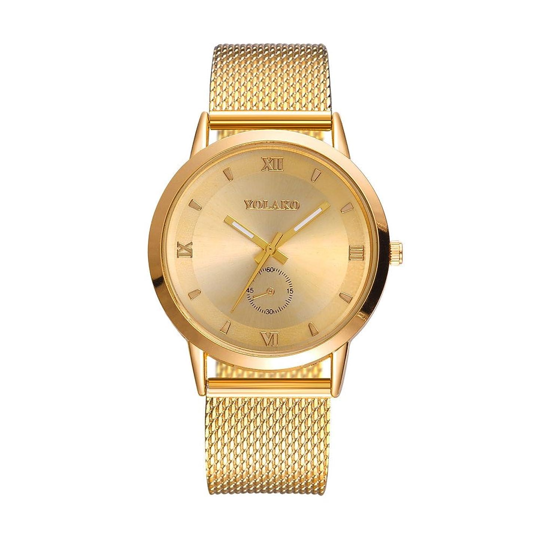 悪名高いノーブル含むHessimy レディースファッションウォッチ 新しいレディースビジネスブレスレット ラグジュアリーウォッチ カジュアル シンプル ステンレススチール 高硬度ガラスミラー ガールズギフト アナログクォーツ腕時計 ゴールド
