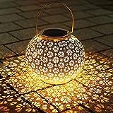 Lanterna Solare, Infankey Lanterne da Esterno, IP65 Impermeabile, Sospesa per Giardino, Terrazza, Balcone (Classe di Efficienza A+++)