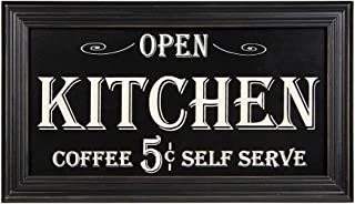 Vintage Kitchen Coffee Advertising Wood Sign | Rustic Home Kitchen Parlor Decor | 7.5 x 13 Inch