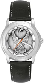 Bulova® Men's Watch. Raise pewter dial. 76A12