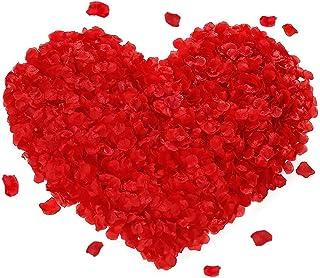 FYSL 1000 Pcs Pétalos de Rosa pétalos de Rosa de Seda Artificial Rojos para Bodas, Fiestas, día de San Valentín y Ambiente Romántico