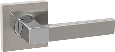 Single Lever - Flash Mount Abetone Dummy Right Passage//Privacy//Dummy Function by Tatman Hardware Modern Interior Door Lever in Satin Nickel