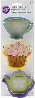 Wilton Tea Party Colored Metal Cutter Set, 3-Piece