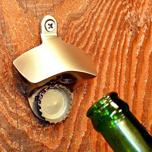 Wall Mounted Bottle Opener That Catches Bottle Caps MAGCAP (Gunmetal Black)