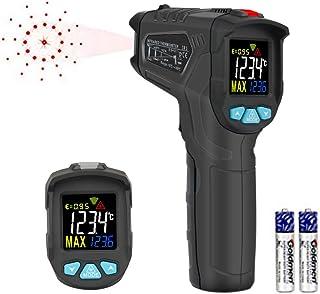 HANMER 非接触 温度計 赤外線温度計 放射温度計 高品質カラーディスプレイ 温度計 料理用 デジタル温度計 クッキング 工業/電気温度管理 日本語説明書付き IR1
