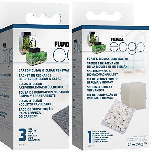 Fluval Edge Schaumstoff / Biomax Filtermaterial, 3 Stück