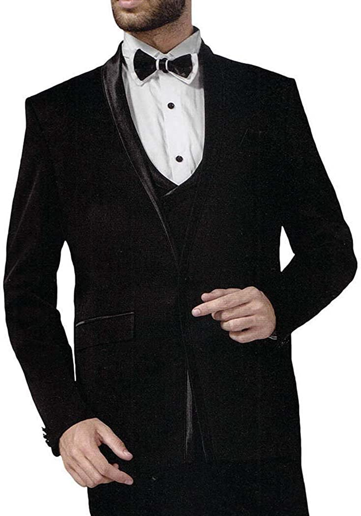 INMONARCH Mens Wine 6 Pc Tuxedo Suit Checks One Button TX1027