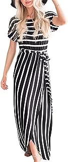 Jhuchan Women's Summer Spaghetti Straps Sleeveless Cold Shoulder Sundress Cute Casual Polka dots A Line Short Mini Dress