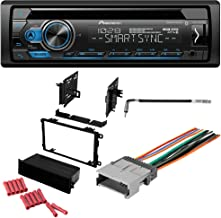 CACHÉ KIT2357 Bundle with Complete Car Stereo Installation Kit with Receiver – Compatible with 2001–2002 GMC Savana Van – Single Din Radio Bluetooth CD/AM/FM Radio, Dash Mounting Kit (5Item)