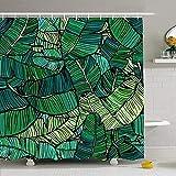 Hotyle Duschvorhang Set Mit Haken 120X180Cm Hand Abstract Bold Mit Gezeichnetem Muster Aloha Strukturierte Banane Kokosnuss Natur Texturen Realistischer Baum