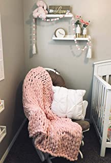 """Best EASTSURE Luxury Knit Chunky Throw Blanket Premium Super Soft Warm Cozy Chenille Blanket for Couch Bed Chair Pink 40""""x80"""" Review"""