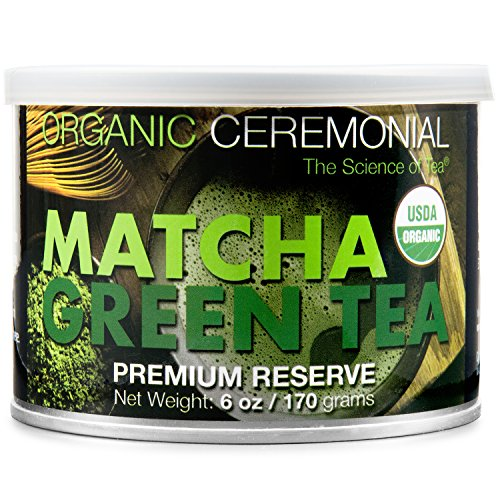 MatchaDNA Certified Organic Ceremonial Grade Matcha Green Tea Powder, TIN CAN (6...