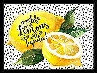 人生がレモンを手に入れたら幸せになる 金属板ブリキ看板警告サイン注意サイン表示パネル情報サイン金属安全サイン