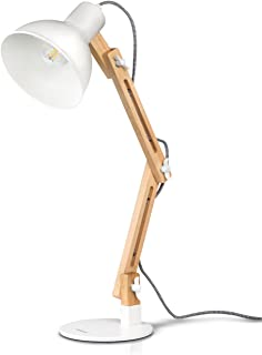 comprar comparacion Lámpara de Escritorio,Columpio del Brazo,lámpara de Mesa Ajustable y Desmontable de Madera para Oficina, Sala, Estudio y D...