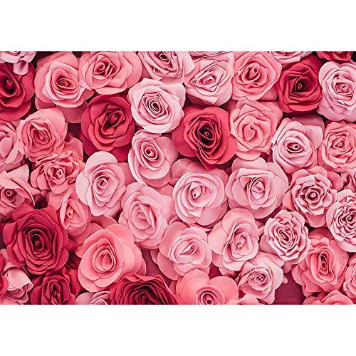 Flores Fondo de fotografía de San Valentín Fondo para Amantes de la Boda Retrato Niños Sesión de Fotos Accesorios de fotografía A1 7x5ft / 2.1x1.5m