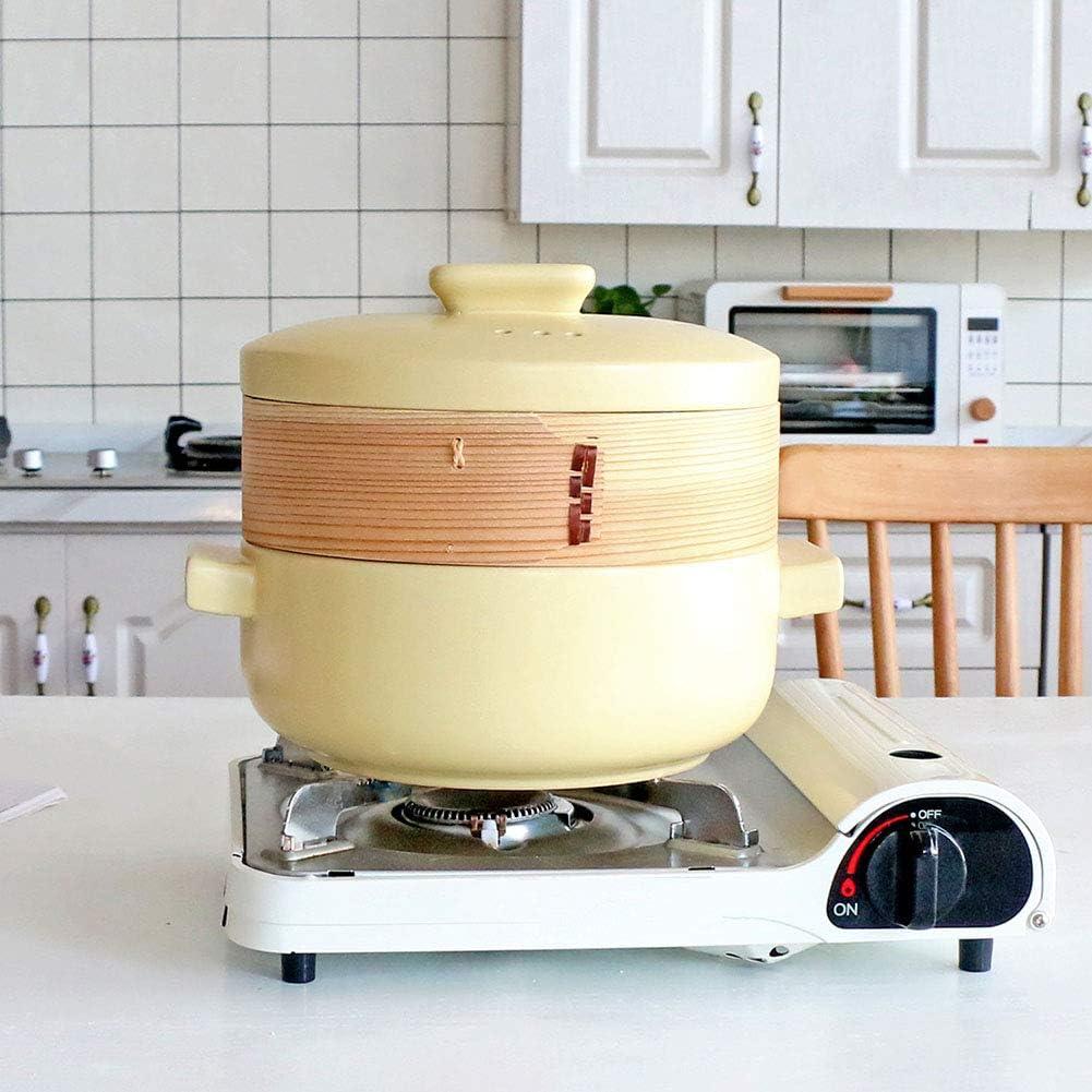 Pc-Hxl Tajine Faitout en Céramique avec Pot De 2,5 L Diamètre 28 Cm Hauteur 21,5 Cm Compatible avec Toutes Sources De Chaleur (sauf Cuisinière À Induction),Blanc White