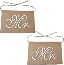 Senmubery Mr & Mrs krzesło konopne baner zestaw krzesło znak girlanda rustykalna ślub zdjęcie tło impreza krzesło dekoracja