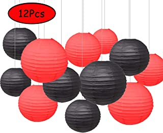 black and red party decorations