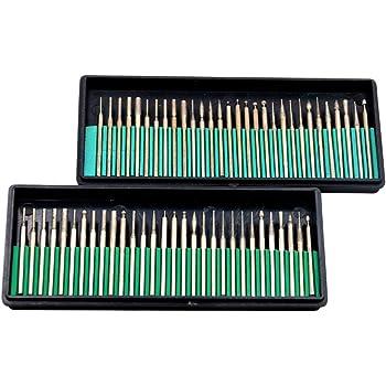 Oudtinz Tm 60 brocas de diamante para taladro de cristal y metal para herramientas rotativas Dremel Craftsman 1/8