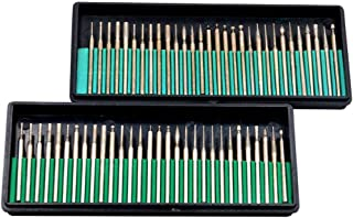 90 Piezas 1//8 Pulgadas TOOGOO Taladro Brocas de Rebaba de Diamante Vidrio Piedra Preciosa Metal Para Dremel Herramienta Rotativa de Molienda 3 Mm