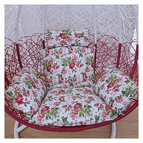 Cojines para exteriores para sillas de patio Cojines para columpios individuales, cojines para sillas colgantes Cojín para sillas con forma de huevo, para interiores, exteriores, jardín, cesta colga
