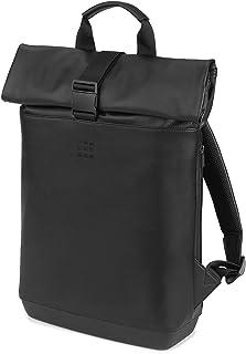 Mochila Clásica Enrollable Multiusos para Ordenador Portátil, Tablet, Notebook, iPad de hasta 15'', Tamaño 40 x 32 x 12 cm, Negro