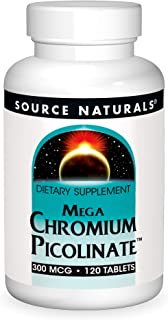 Sponsored Ad - Source Naturals Mega Chromium Picolinate 300 mcg Trace Element, Dietary Supplement - 120 Tablets