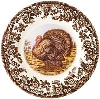 Spode Woodland Turkey Salad Plate