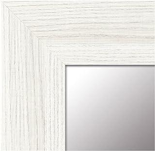 -Espejo Fabricado en España - tamaño 64x164 cm. Espejo Decorativo de Pared Modelo 189 Blanco, Ideal para salón, Pasillo, Dormitorio, vestidor o baño