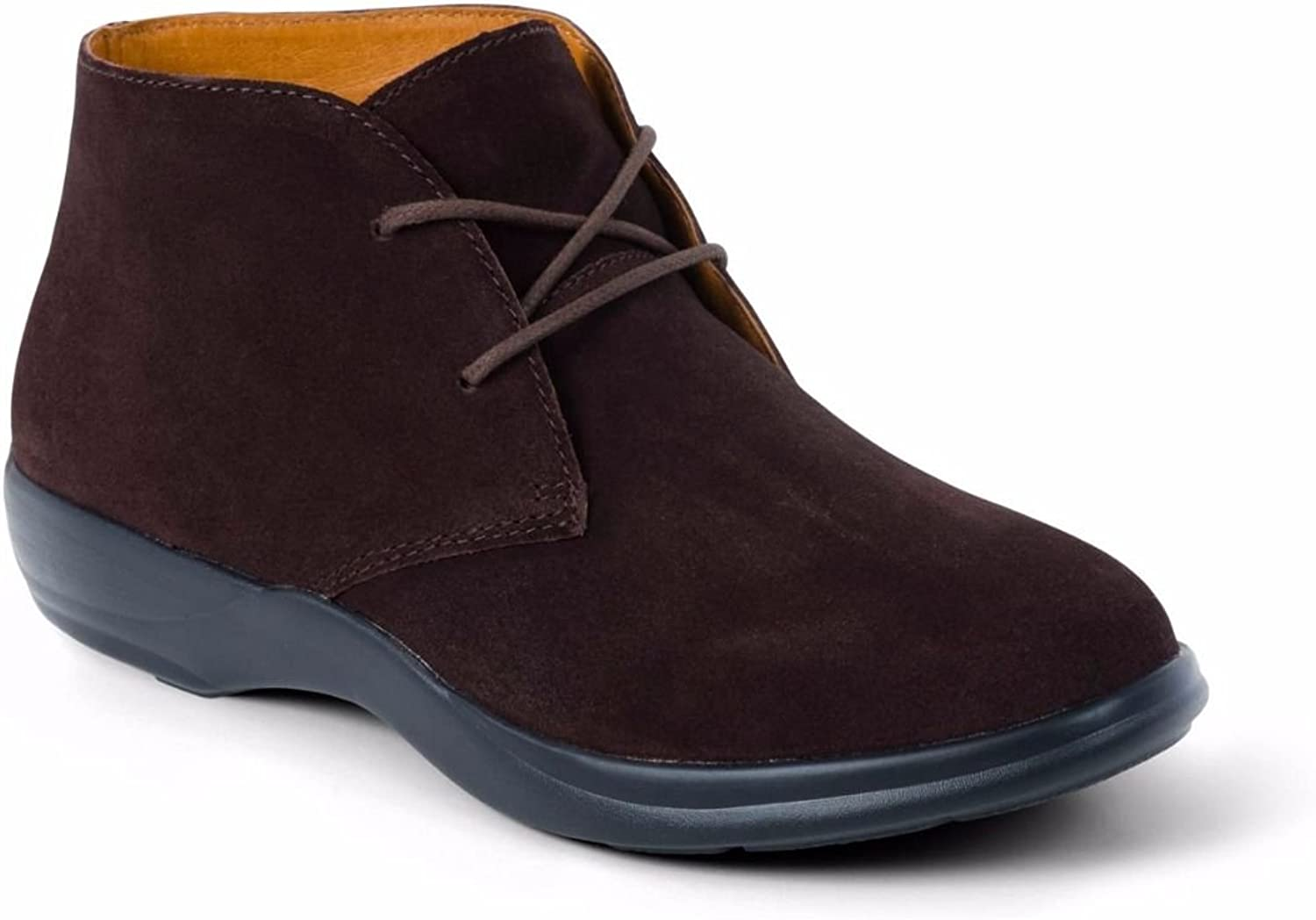 DR. COMFORT Women's Cara Casual Suede Leather Bootie Chukka Boot Brown