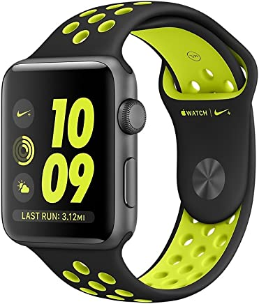 Apple Watch Series 2 Nike+ 42mm, Banda Deportiva, Color Negro/Verde