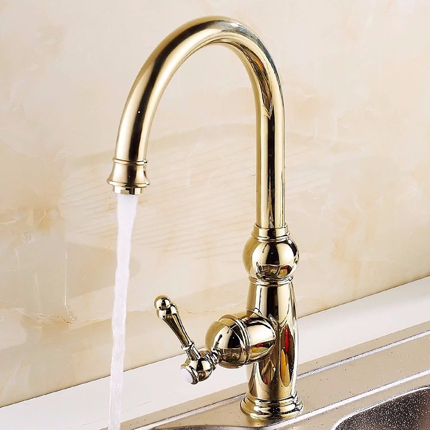 QIMEIM Kitchen Taps Sink Mixer Tap gold Hot and Cold Brass redatable Antique Kitchen Basin Sink Mixer Tap Kitchen Faucet