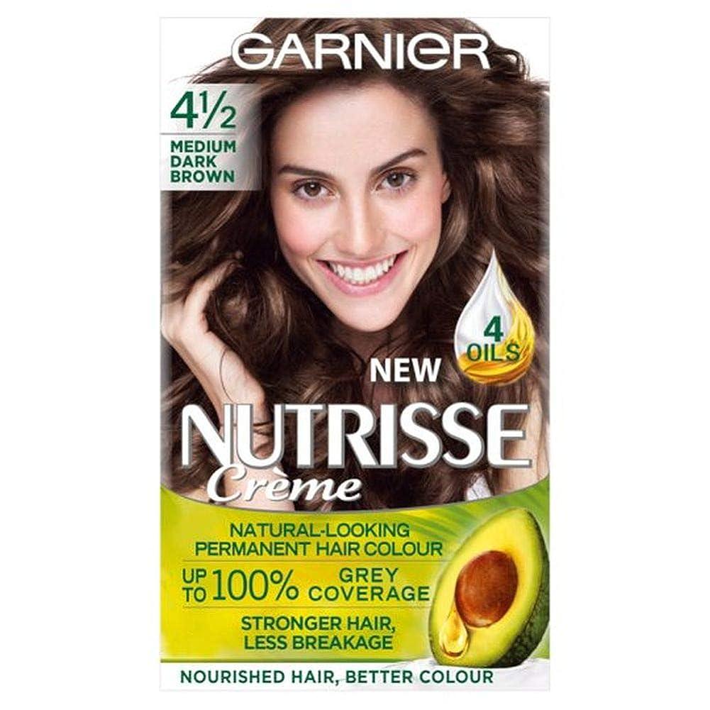 クラシカル気楽な残高[Nutrisse] 4.12メディアD / Brwn永久染毛剤Nutrisseガルニエ - Garnier Nutrisse 4.12 Medium D/Brwn Permanent Hair Dye [並行輸入品]