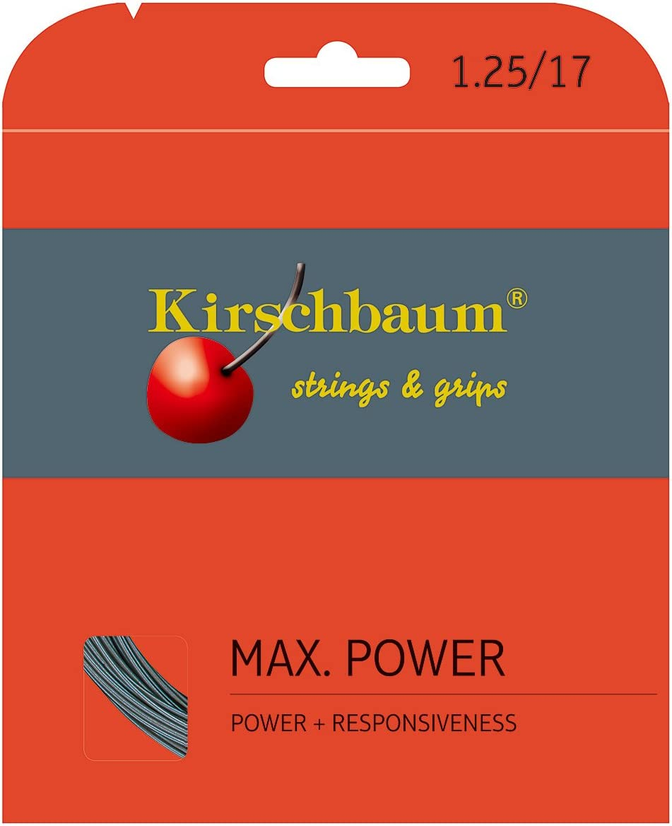 Kirschbaum MAX Power Super popular specialty store Max 77% OFF Grey Set Tennis String
