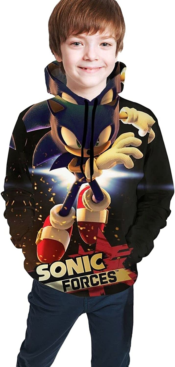 Sonic Hoodies, Teens Youth Pullover Sweatshirt With Front Pocket For Boys Girls