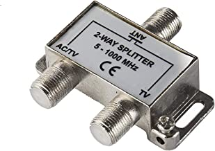AirDiff 2-Way TV Antenna Coaxial Cable Splitter,High Performance with Low Loss in db, AC Current Support