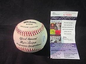 Gene Michael, Steve Howe, Buck Showalter, LeRoy Neiman Auto Signed Baseball JSA N16084
