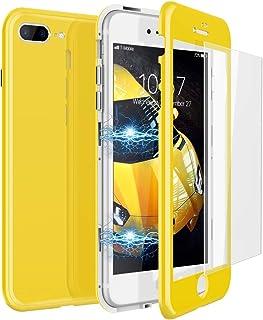coque iphone 8 plus jaune claire
