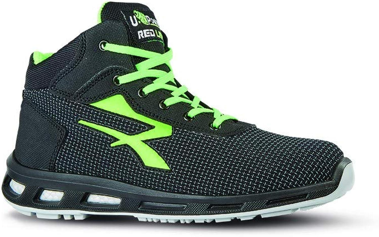 U-POWER Safety shoes, Redlion Hard S3 SRC, Size 47 EU Black