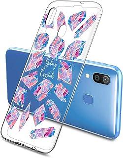 Oihxse Funda Dibujos Diamantes Brillantes Compatible Samsung Galaxy S10 5G Transparente Silicona TPU Bumper Case Ultra Del...