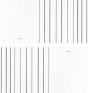 DALIX PVC Veritcal Blind Replacement Slats Curved Smooth White 94.5 x 3.5 (20-Pack)